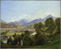 Innsbruck, Stadtansicht / Aquarell von J. Alt by AKG  Images