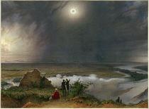 Sonnenfinsternis am 8. Juli 1842 / Aquarell von L. Russ von AKG  Images