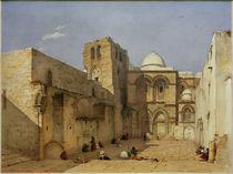 Jerusalem, Grabeskirche  / Aquarell von L. Russ by AKG  Images