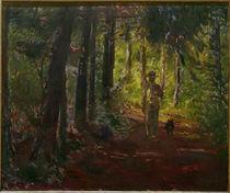 M.Slevogt, Mann auf einem Waldweg by AKG  Images