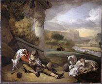 J.Weenix, Landschaft mit Hirtenjunge von AKG  Images