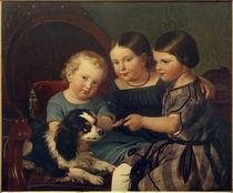 Eugen de Weerth's Children / Pl Schwingen / Painting, c.1850 by AKG  Images