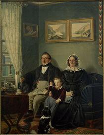 P.Schwingen, Johann Peter Keuchen und Sophie Karoline Keuchen geb. Frowein mit ihrem Enkel Eduard Werlé by AKG  Images