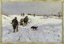 H. Mühlig, Rückkehr von der Winterjagd by AKG  Images
