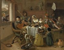 Jan Steen / Die fröhliche Familie / 1668 by AKG  Images