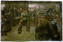 H.Zille, Ringkampf in der Schaubude von AKG  Images