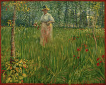 Woman in a Garden / V. van Gogh / Painting, 1887 by AKG  Images