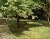 M.Liebermann, Garden bench... / painting by AKG  Images