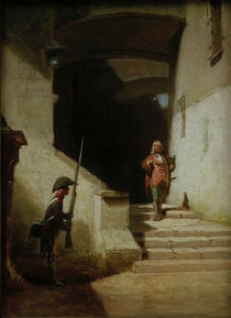 His Serene Highness (He is Coming) / C. Spitzweg / Painting c.1870 by AKG  Images