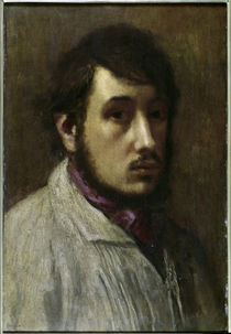 E.Degas, Portrait of a Man / Painting by AKG  Images