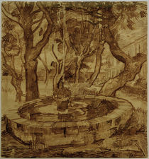 v. Gogh, Fountain in the Asylum / Draw. by AKG  Images