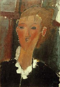 A.Modigliani, Junge Frau m. weißem Kragen von AKG  Images