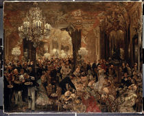 A. v. Menzel, Das Ballsouper / 1878 by AKG  Images