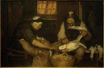 A. Ancher, Zwei Alte, die Möwen rupfen. Lars Gaihede und die alte Lene von AKG  Images