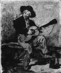 Manet / Spanish Singer / Etching by AKG  Images