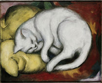 The White Cat / F. Marc / Painting, 1912 by AKG  Images