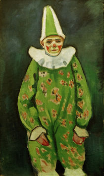A.Macke, Clown in green costume / 1910 by AKG  Images
