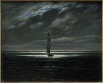 C.D.Friedrich, Seascape at moonlight by AKG  Images