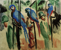 August Macke, At the parrots / 1914 by AKG  Images