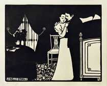 The Lovely Tie Pin / F. Vallotton / Woodcut 1898 by AKG  Images