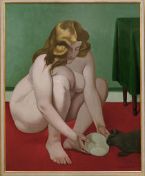 F.Vallotton / Woman with Cat / 1919 by AKG  Images
