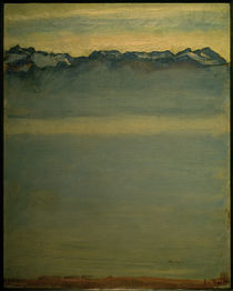 F.Hodler, Genfer See mit den Savoyer Alpen von AKG  Images