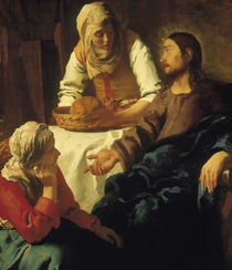 Vermeer / Christ in the House of Mary and by AKG  Images
