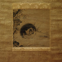 Katze / korean. Seidenmalerei, 16. Jh. von AKG  Images