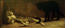 Th. A.Steinlen, two cats / painting, 1903 by AKG  Images