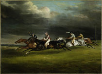 Th. Géricault, Pferderennen in Epsom von AKG  Images