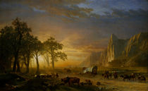 Bierstadt / Wagon Train on the Prairie by AKG  Images
