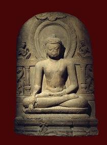 Buddha / Sandstein, indisch, 9. Jhdt. von AKG  Images