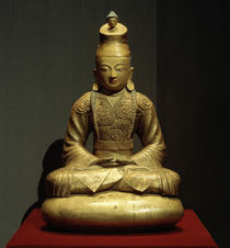 Songtsen Gampo / Sculpture, 14th Century by AKG  Images