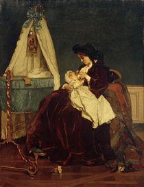 Alfred Stevens, Die Frau des Künstlers und Sohn Léopld by AKG  Images