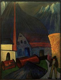 M. v. Werefkin, Obersdorf (Schindelfabrik) / Gemälde von AKG  Images