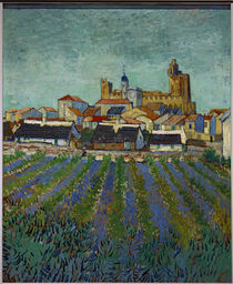 View of Saintes-Maries / V. van Gogh / Painting, 1888 by AKG  Images