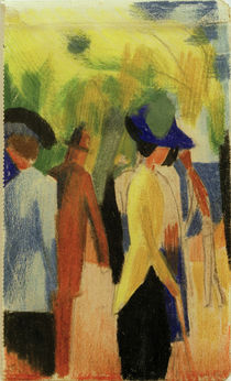 August Macke / People Strolling under Trees by AKG  Images