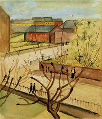 A.Macke, View of our street in spring by AKG  Images