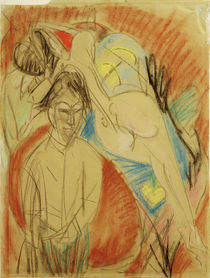 E.L.Kirchner / Self-Portrait with Nude by AKG  Images