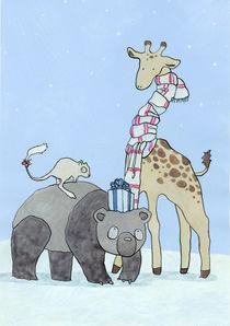 Weihnachtstiere by Maria Müller-Leinweber