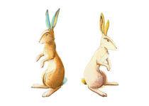Hasenpaar von Maria Müller-Leinweber