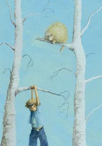 Junge in der Birke by Maria Müller-Leinweber