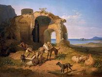 C.W. v. Heideck, Landschaft mit Ruine von AKG  Images