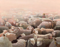 Schafe von Kapela 2 von Maria Müller-Leinweber