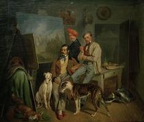 Die Brüder Benno, Franz u. Eugen Adam, Gem. by AKG  Images