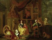 Flämischer Maler, Maler mit Familie von AKG  Images