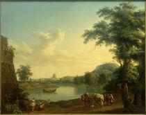 Rom, St. Peter v. d. Milv. Brücke gesehen / Gemälde v. Hackert von AKG  Images