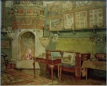 """G.Munthe, Interieur von """"Leveld"""". Der Salon by AKG  Images"""