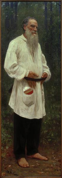Leo Tolstoj barfuss / Gemälde, 1901, v. Repin by AKG  Images