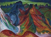 E.L.Kirchner, Die Berge Weissfluh... von AKG  Images